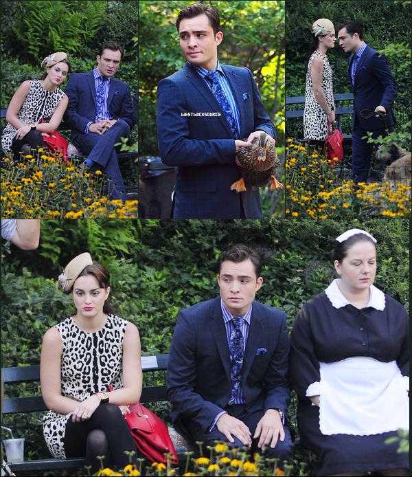 ON SET Ed sur le set de GG le 1er Septembre. Leighton, Blake et Chace étaient eux-aussi sur le tournage.