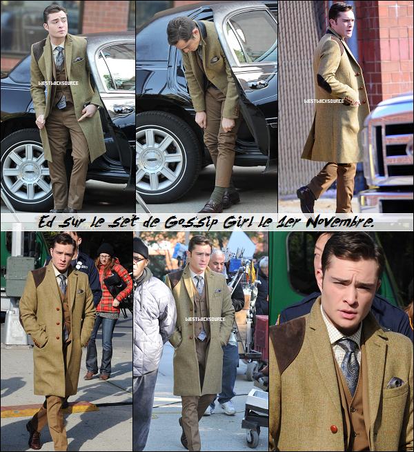 ON SET Ed était, comme à son habitude, sur le set de Gossip Girl les 31 Octobre et 1er Novembre dernier.