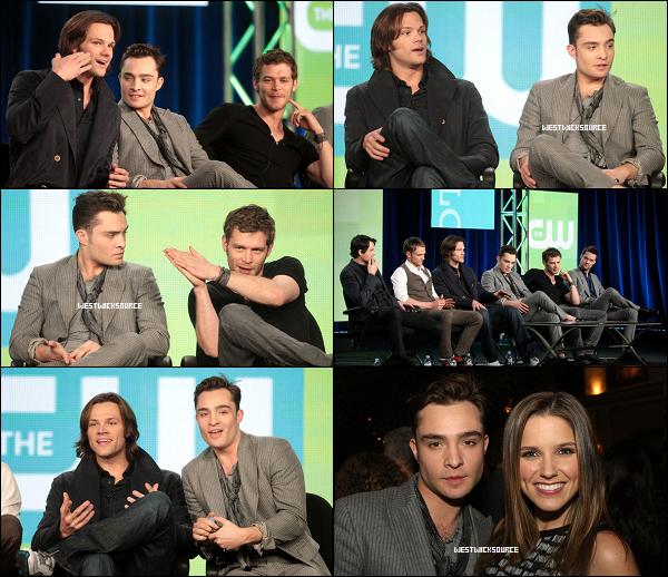 """APPARITION Ed au """"2012 Television Critics Association Press Tour"""", le 12 Janvier dernier."""