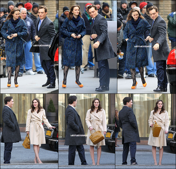 ON SET Ed en compagnie de Leighton sur le set de Gossip Girl, le 5 Mars dernier.
