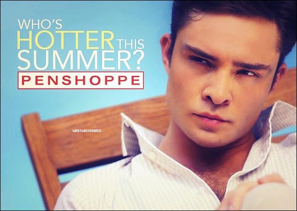 PENSHOPPE Voici une nouvelle photo d'Ed pour la campagne d'été 2012 de Penshoppe.