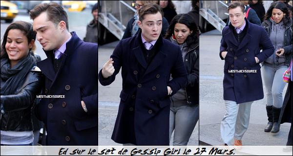ON SET Ed tournant les derniers épisodes de la saison 5 de Gossip Girl, les 26, 27 et 30 Mars.