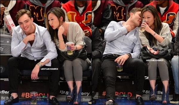CANDIDS Le 31 Mars, Ed à assisté à un match de basket au Madison Square Garden, à New York.