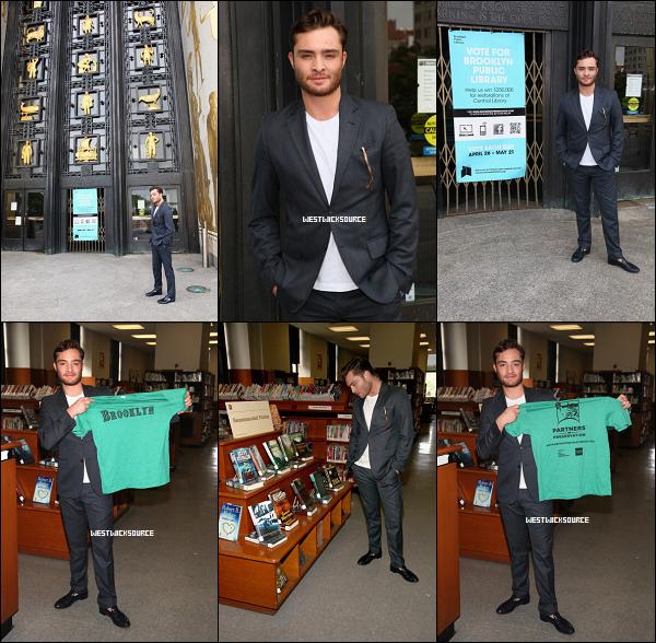"""APPARITION Ed a visité la bibliothèque publique de Brooklyn pour """"Partners in Preservation"""", le 5 mai."""