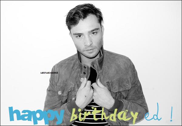 ANNIVERSAIRE Aujourd'hui, 27 juin 2012, notre Ed fête ses 25 ans! Joyeux anniversaire à lui ♥