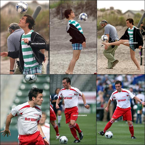 DIVERS On le sait, Ed est un brillant acteur, mais pendant ses temps libre, c'est aussi un bon footballeur!