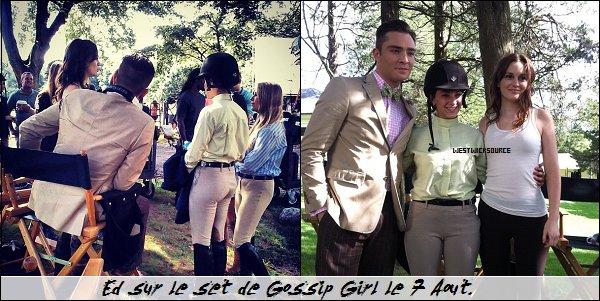 ON SET Ed sur le set de Gossip Girl durant ces deux dernières semaines. article rattrapage