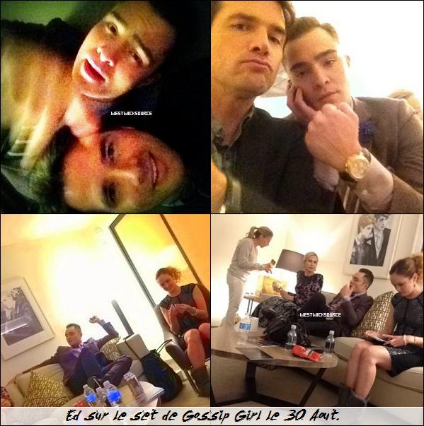 ON SET Ed sur le set de GG les 28 et 30 Aout, avec Matthew Settle (Rufus) et Kelly Rutherford (Lily).