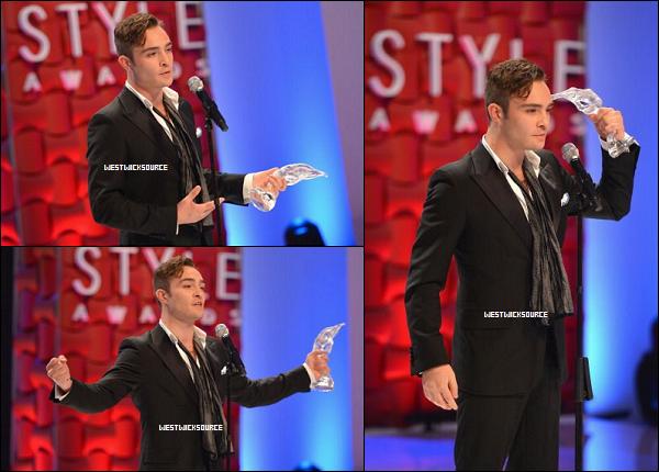 "APPARITION Ed au ""Style Awards"" le 5 Septembre, accompagné de Todd DiCiurcio, à New York."