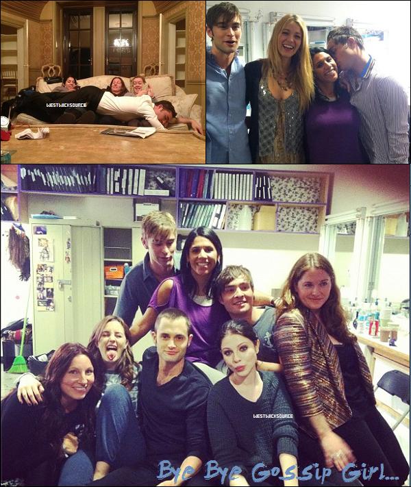 ON SET Ed et tous les autres acteurs sur le set de GG, pour la dernière fois de leurs vies le 19 Octobre.