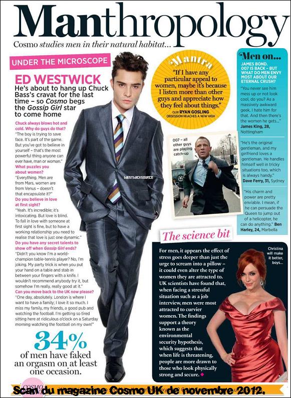 COVER Des scans des magazines US Weekly de Décembre et Cosmo UK de Novembre sont apparus.