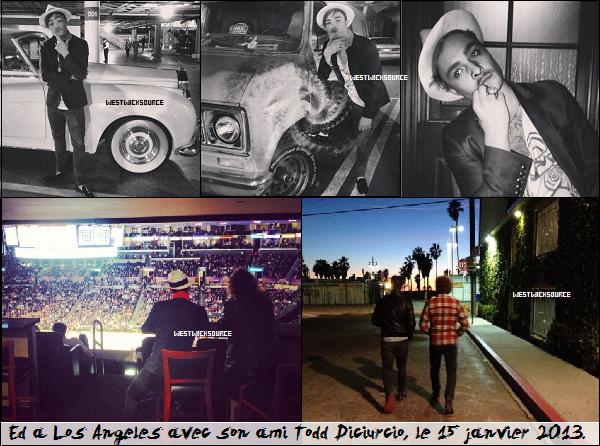 CANDIDS Ed avec des fans ainsi qu'avec son ami Todd Dicuircio, en Janvier. Plus, ses dernières actus.