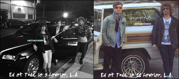 CANDIDS Ed a été vu au Chateau Marmont, L.A, le 5 Février et dans les rues de Los Angeles le 7 Février.