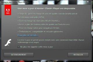 Et voilà une nouvelle mise à jour Flash Player ... ^^