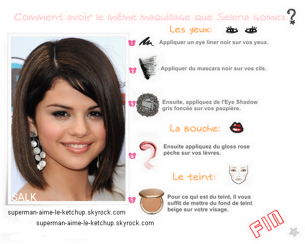 "Maquillage : Selena Gomez à la première de ""Princess Protection Program""."