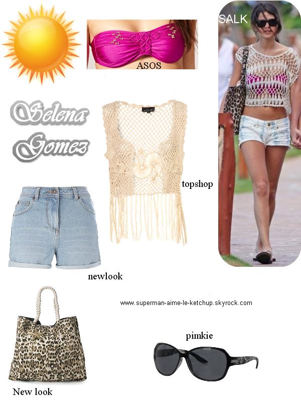 Style : Selena Gomez à la plage.