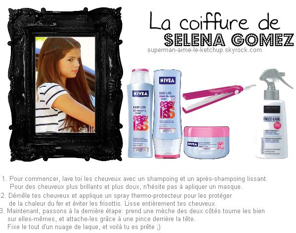 La coiffure de Selena gomez