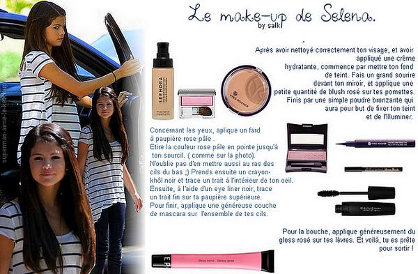 le make-up de Selena