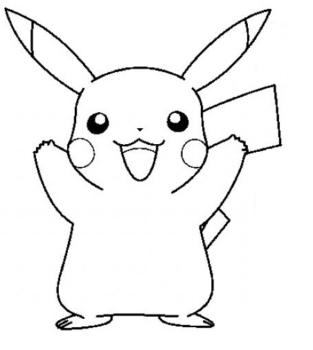 Coloriage de pikachu sp cial pokemon - Modele dessin pokemon ...