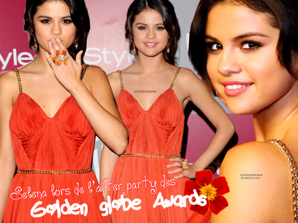 Selena Lors des golden globe Awards.