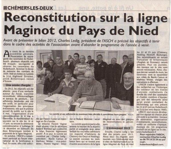 Républicain Lorrain, Editions Saint Avold, 08/02/2013
