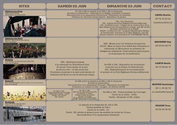 Reconstitution les 22 et 23 juin 2013