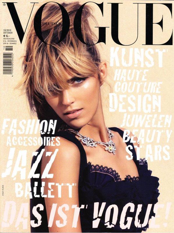 Anja Rubik pour Vogue Allemagne, octobre 2010