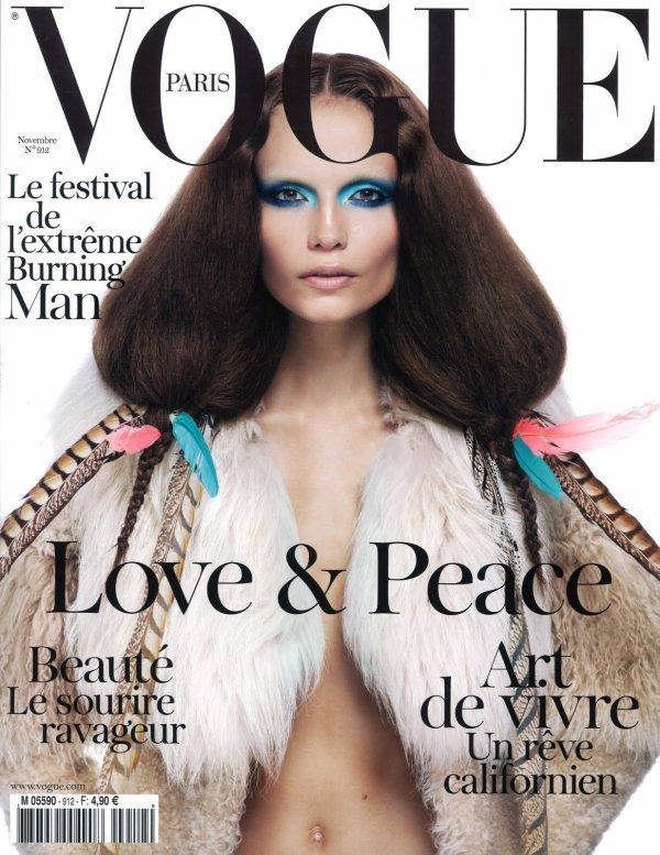 Natasha Poly pour Vogue Paris, novembre 2010