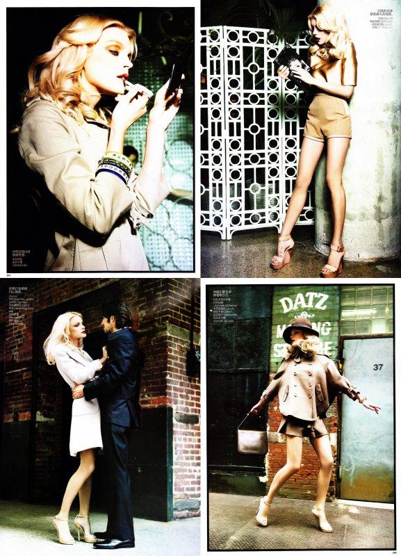 Jessica Stam pour Vogue US, janvier 2011