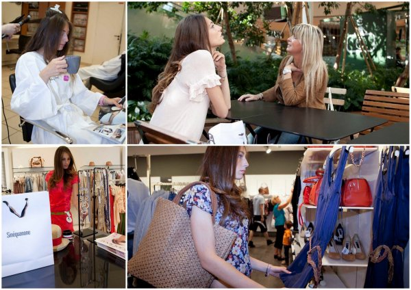 Journée shopping avec Katia, séléctionnée au centre commercial du Carré Sénat