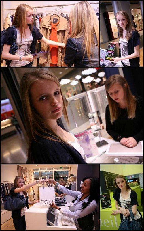Journée shopping avec Pauline, sélectionnée Elite au centre commercial Vélizy 2