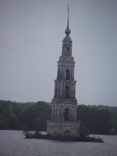 clocher inonde