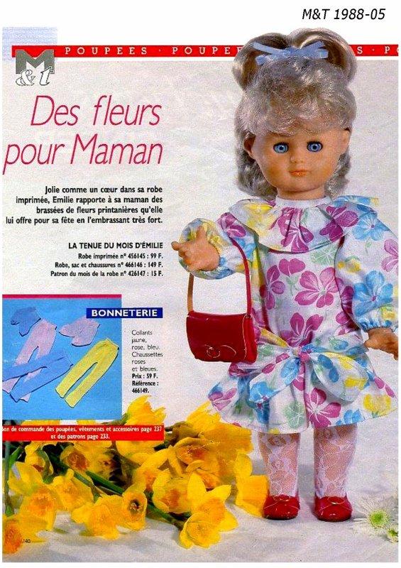 """Robe d'Émilie """"Des fleurs pour maman"""""""