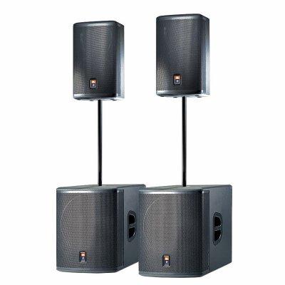 new system son JBL PRX amplifier CROWN  4000 watts