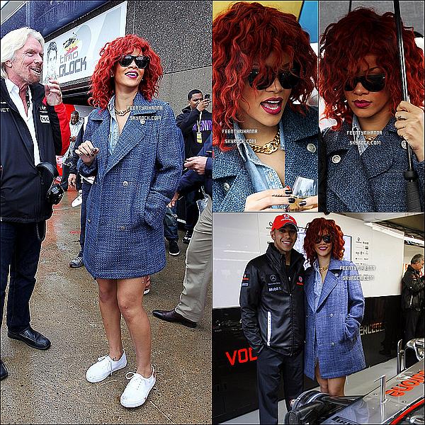 . 12/06/11 : Rihanna au Grand Prix de F1 puis passe la journée avec Drake à Montréal, Canada. .