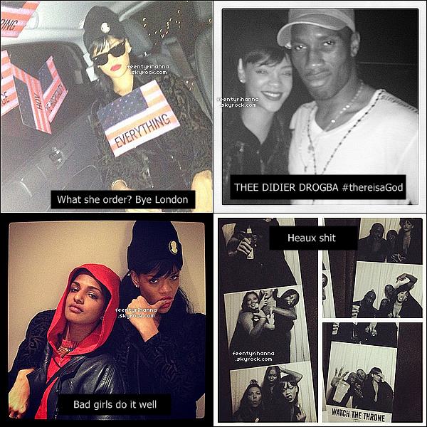 . 25/05/12 : Rihanna a performée All Of The Lights avec Jay-Z & Kanye West, Londres. Rihanna a fait son apparition sur la scène du Watch The Throne, la tournée de Jay-Z et Kanye West. Comment trouves-tu ce live ? .