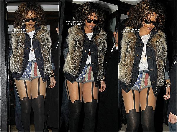. 12/11/11 : Rihanna quitte le restaurant Nozomi à Londres puis le lendemain arrivant au club Whisky Mist..