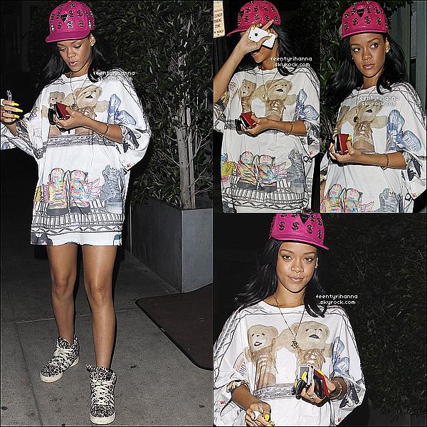 . 03/06/12 : Robyn Rihanna Fenty est allée manger au Giorgio Baldi à Los Angeles. (Californie)  + La belle Rihanna est ensuite allée s'amusée dans le club Greystone Manor de Los Angeles avec tout ses amis ! Top ou flop ?  .