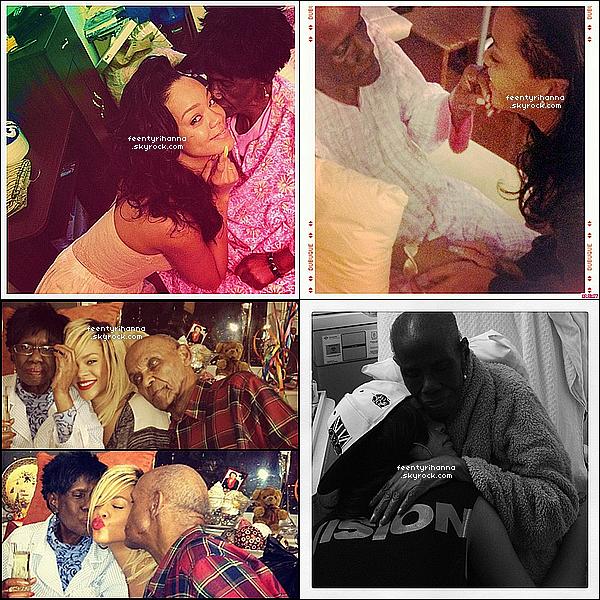 . RIHANNA FAIT SES ADIEUX À SA GRAND-MÈRE DOLLY . Triste jour pour la Rihanna Navy… La grand-mère de Rihanna, dénommée Dolly, est décédée à la suite d'un cancer. C'est Rihanna elle-même qui a annoncé la triste nouvelle sur son compte Twitter ce matin, en publiant notamment plusieurs photos de ses récentes visites à l'hôpital. Rappelons notamment que Rihanna avait annulé son apparition au « Graham Norton Show » pour rester près de sa grand-mère souffrante à New York. Toutes nos pensées accompagnent Rihanna et sa famille durant cette dure épreuve. .