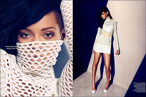 . Robyn Rihanna Fenty a posée pour le grand magazine Harper's Bazaar. Tu aimes ce photoshoot ?.