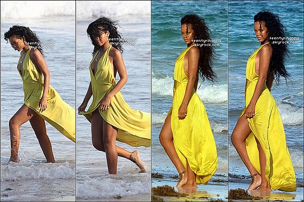 . 08/08/12 : Robyn Rihanna Fenty est à la Barbade et en a profité pour aller au club 360.  + Le 9 août, Rihanna a été aperçut sur une plage de la Barbade pour un photoshoot. Tu aimes les robes voilées que Riri porte ? .