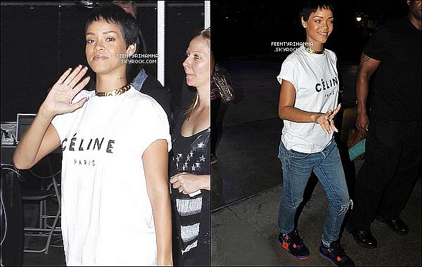 . 05/09/12 : Rihanna Fenty a été aperçut arrivant aux répétitions des MTV VMA à Los Angeles, Californie. .