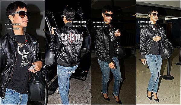 . 29/09/12 : Rihanna Fenty arrivant à l'aéroport de LAX à Los Angeles. Top ou flop?  + Robyn Rihanna est allée par la suite mangée au Giorgio Baldi à Los Angeles. Très simple comme tenue, mais magnifique, non? .