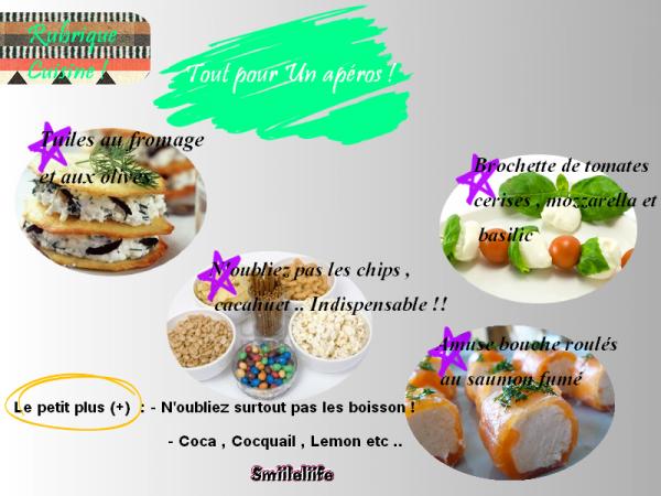 Les Appéros ! - Rubrique cuisine - By Kenza