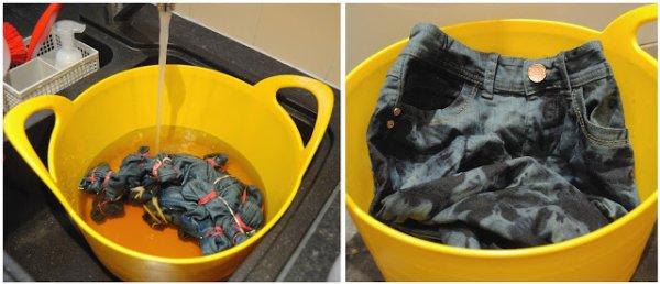 Tie & Dye sur jeans