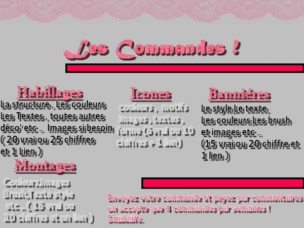 Les Commandes sont a faire ICI ! (: