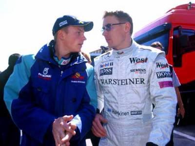 Mika Hakkinen & Kimi Raïkkonen