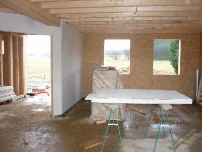 23 02 10 isolation int rieure avec plaque de fermacell notre maison fris e. Black Bedroom Furniture Sets. Home Design Ideas