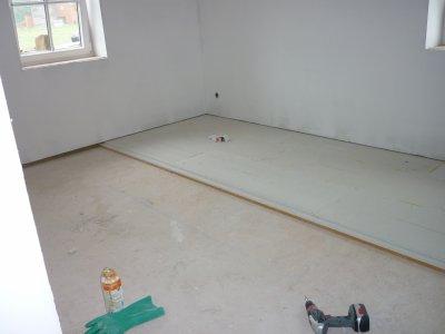 etage chape s che en fermacell notre maison fris e. Black Bedroom Furniture Sets. Home Design Ideas