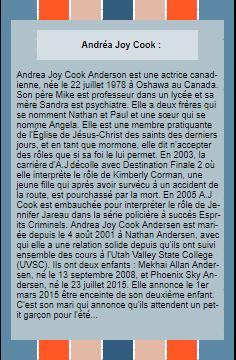 ~WonderfullSeries Andrea - Jennifer ►►Création - Décoration - Articles Actrice - Personnage.